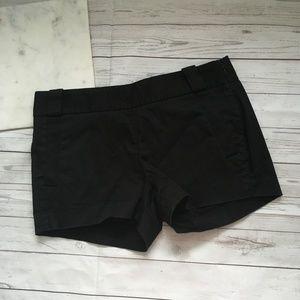 jcrew womens 2 black carson shorts preppy modest c